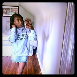 lilac and grey victoria's secret pink hoodie